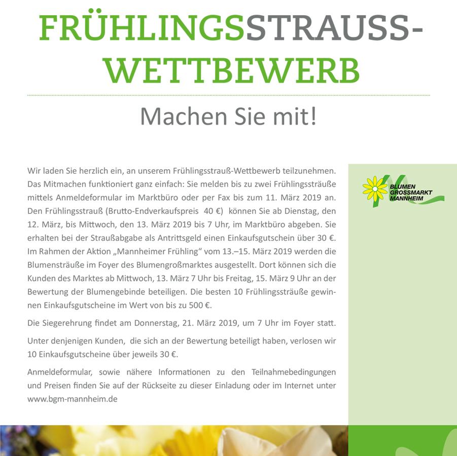 Frühlingsstrauß-Wettbewerb Plakat